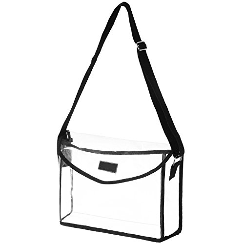 MG Collection Clear Crossbody Stadium Messenger Handbag