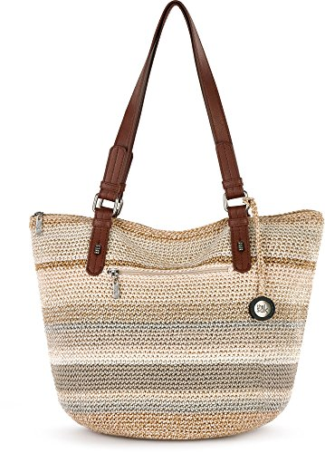 THE SAK Silverwood Shopper Tote Handbag One Size Beige multi