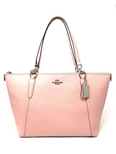 Coach Crossgrain leather AVA Tote bag in Blush2
