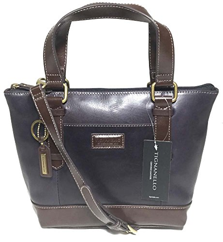 Tignanello Borough Mini Tote, Navy/Dark Brown, T59620A