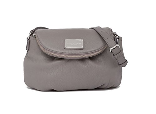 Marc Jacobs Classic Leather Leather Messenger Crossbody Bag Grey