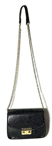 BCBG BCBGeneration Mini Milly Black Snake Python Crossbody Handbag BGP18264S