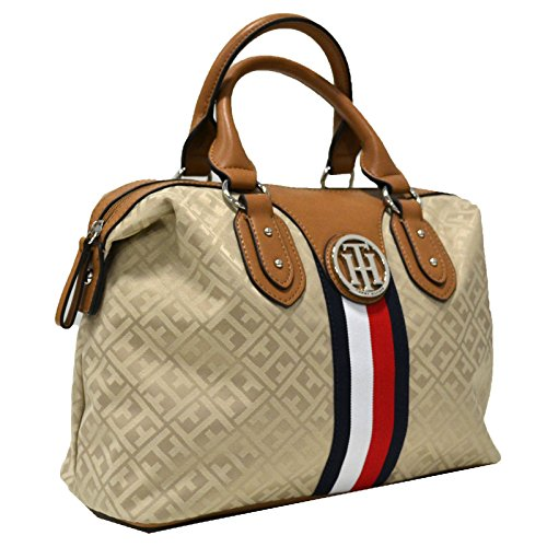 Tommy Hilfiger Top Handle Arm Bag Purse (Tan)
