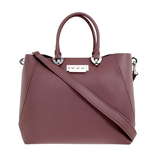 Zac Posen ETA Ladies Large Purple Leather Satchel Handbag ZP1829