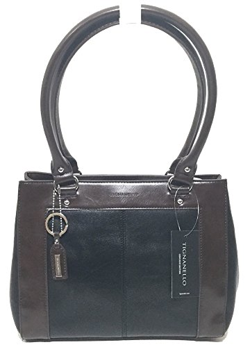 Tignanello Framed Satchel Black/Dark Brown T57020A