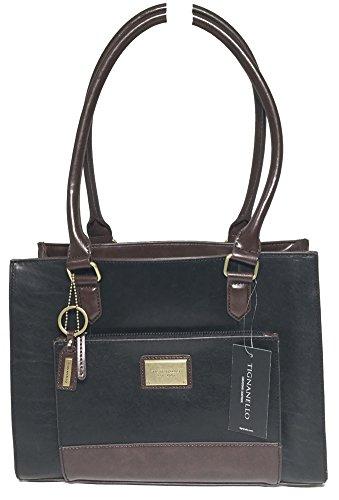 Tignanello To The Point Shopper Black/Dark Brown T57025A