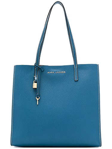 Marc Jacobs The Grind Shopper Leather Tote Bag, Vintage Blue