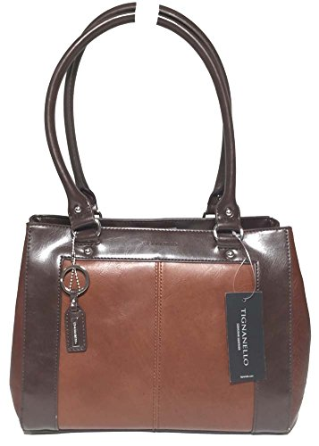Tignanello Framed Satchel Rust/Dark Brown T57020A