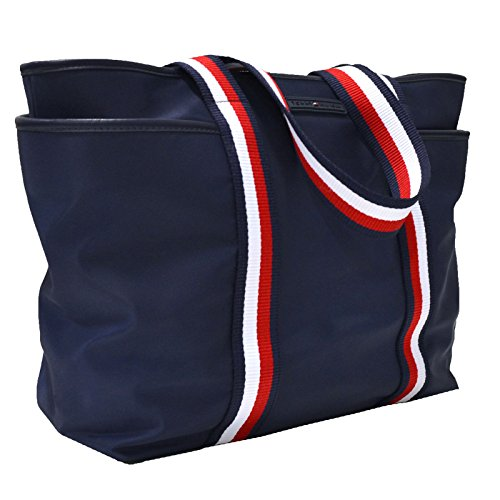 Tommy Hilfiger Nylon Tote Purse – Navy Blue