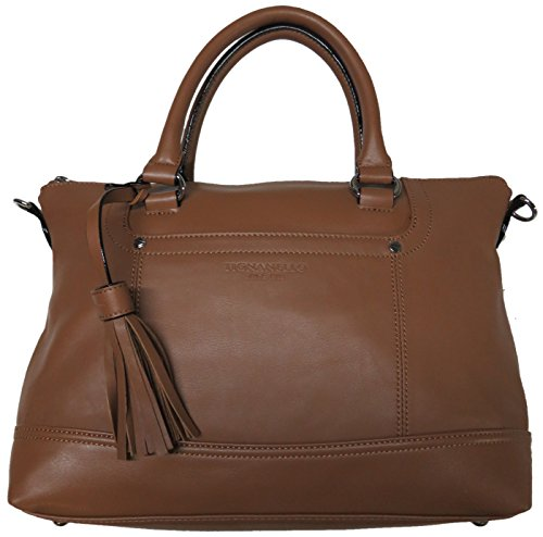Tignanello Women's Genuine Leather Smooth Operator Shopper, Saddle