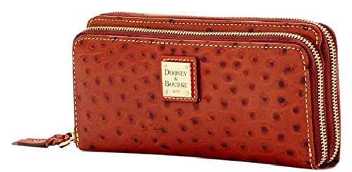 Dooney & Bourke Ostrich Double Zip Wallet