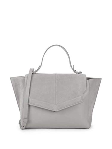 HALSTON HERITAGE Classic Leather & Suede Top Handle Bag, Dove Grey