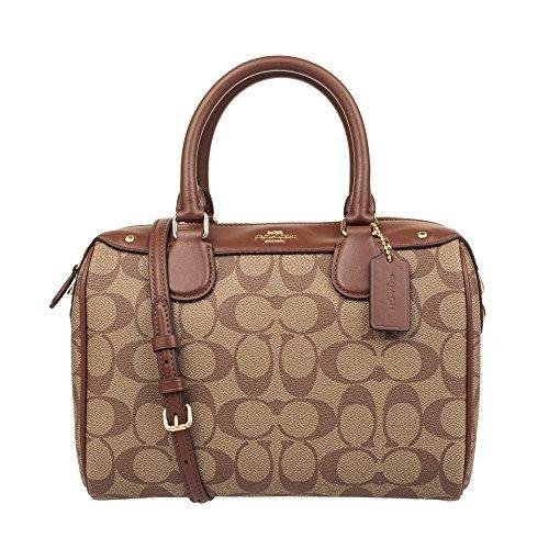 COACH Womens PVC Hand shoulder bag F58312 (Khaki brown)
