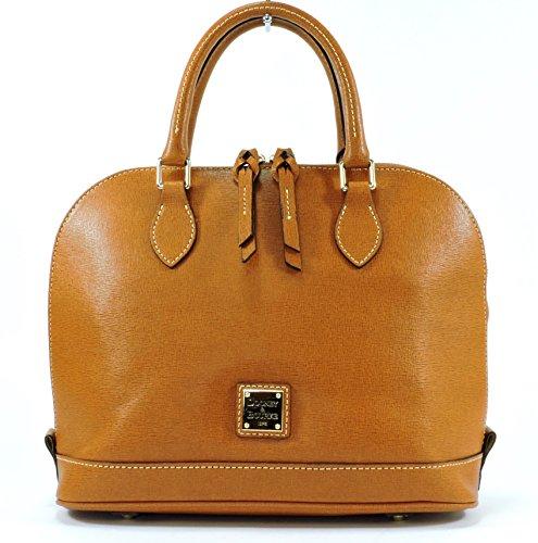 Dooney & Bourke Saffiano Leather Zip Zip Satchel,Cognac