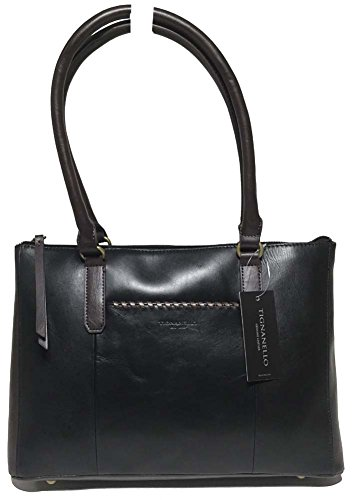 Tignanello Classic Whipstitch Shopper (Black/Brown)