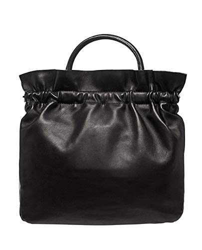 Loeffler Randall Joana Ruffle Frame Tote Handbag in Black