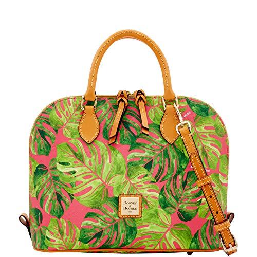 Dooney & Bourke Somerset Floral Zip Zip Satchel Bag,Pink