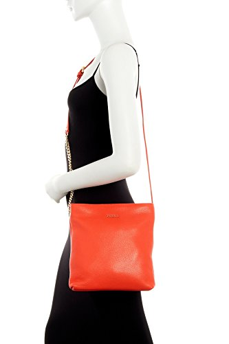 Furla – Julia Chain Small Leather Crossbody (ARANCIO)