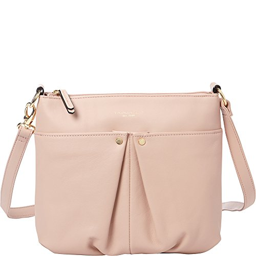 Tignanello Pretty Pleats Smooth Leather Crossbody (Rosewater)