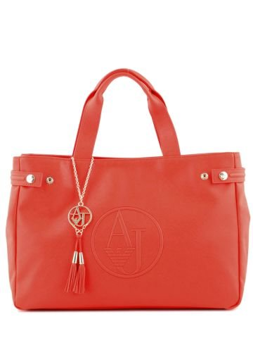 Armani Jeans Women Tote Bag 0523DA3 Red