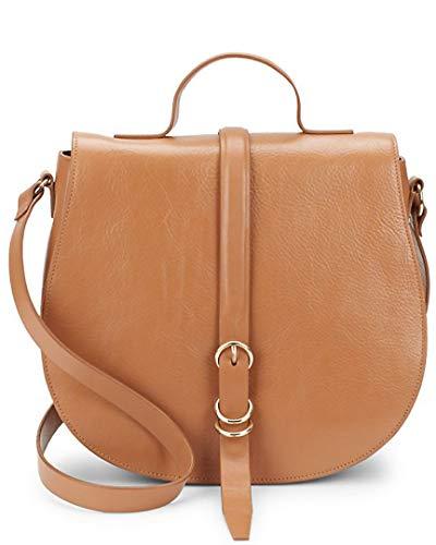 Halston Heritage Smooth Leather Saddle Bag
