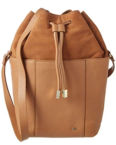 Halston Heritage Drawstring Leather Bucket Bag