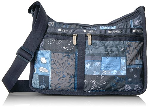 LeSportsac Classic Deluxe Everyday Bag, Denim Quilt