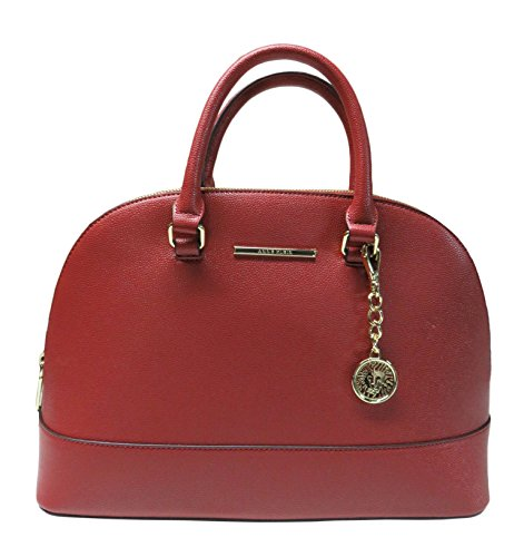 Anne Klein Purse Handbag Classical Revival Satchel Ruby