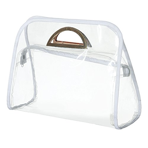 MG Collection Women's Clear PVC Stadium Top-Handle Purse