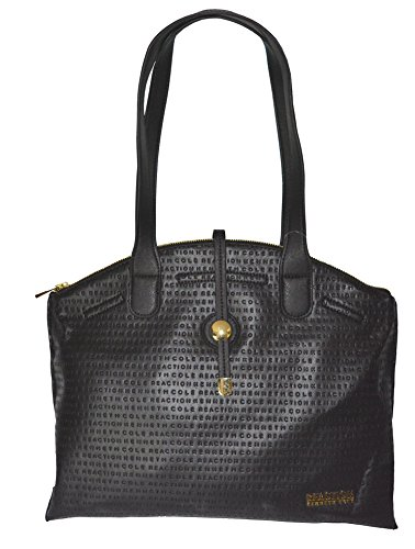 Kenneth Cole Reaction Emboss Round About Shoulder Bag Handbag Purse