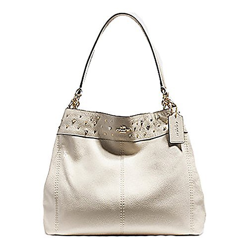 Coach Lexy Stardust Studs Leather Shoulder Purse – #F22314