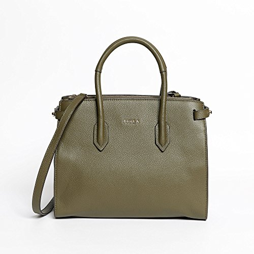 Furla Pin shopping bag small olive