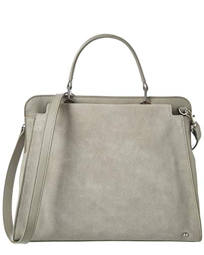 Halston Heritage Center Panel Leather Satchel