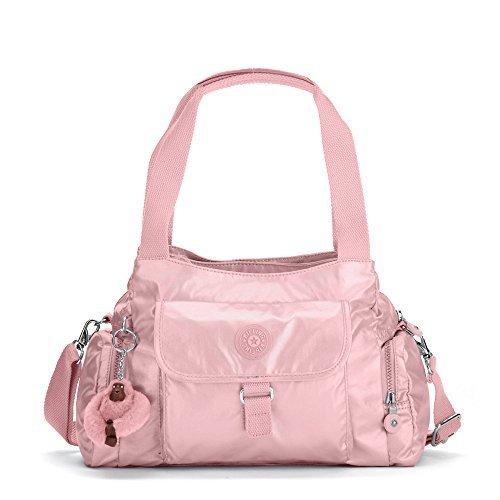 Kipling Women's Felix Large Metallic Handbag One Size Icy Rose Metallic