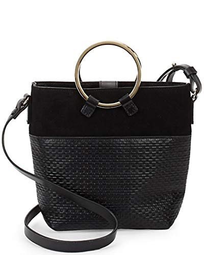 Halston Heritage Quilted Crossbody Bucket Bag