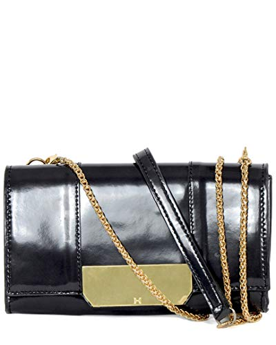 Halston Heritage Leather Continental Wallet On A Chain