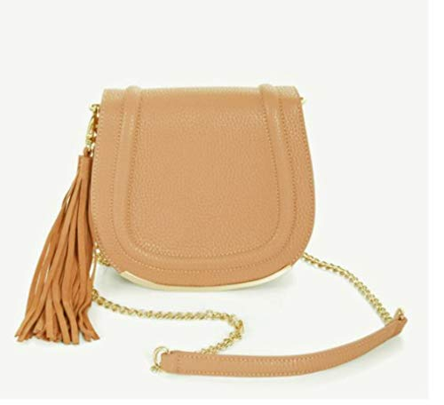 BCBGeneration Tassel Saddle Bag Blush