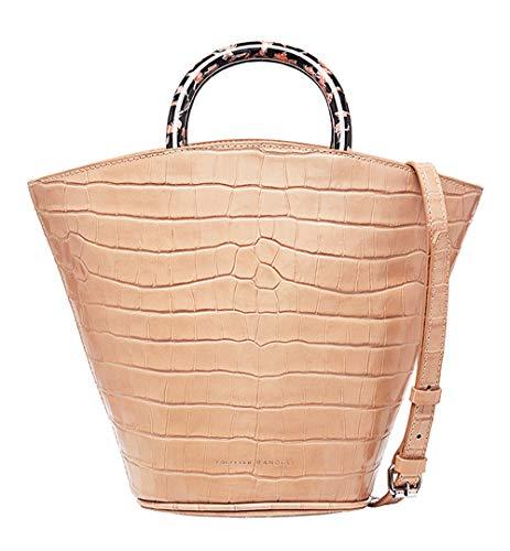 Loeffler Randall Women's Agnes Fan Tote Handbag in Dessert Rose