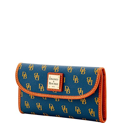 Dooney & Bourke Coated Canvas Gretta Continental Clutch (Navy)