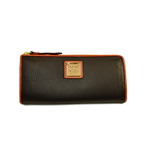 Dooney & Bourke Pebble Leather Clutch Wallet, Black
