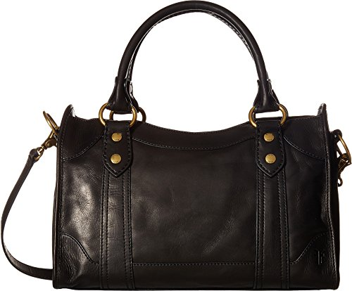 FRYE Melissa Satchel Smooth Full Grain, Black