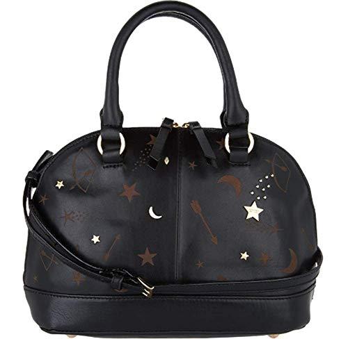 Tignanello Vintage Leather Andromeda Mini Dome Crossbody, Etched Black