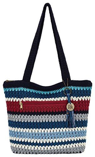 THE SAK Riveria Tote Handbag One Size Marina stripe