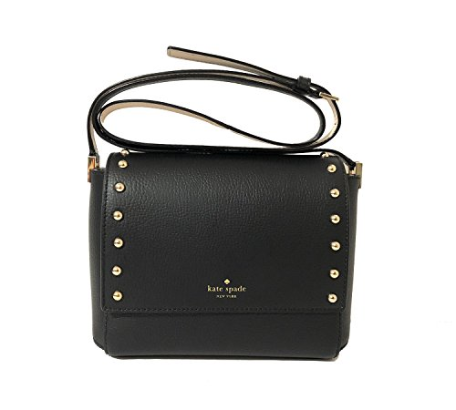 Kate Spade Sanders Place Avva Leather Crossbody Bag in Black (Black)