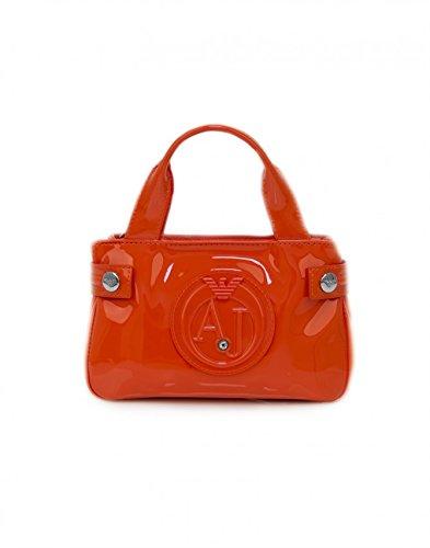 Armani Jeans Mini Bag, orange coloured min bag – SIZE (cm) : W.20 H.12 D.5