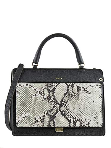 Furla Women's Black Like Snake Top-handle Convertible Satchel