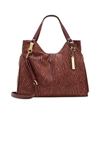 Vince Camuto Riley Leather Tote, Black Cherry