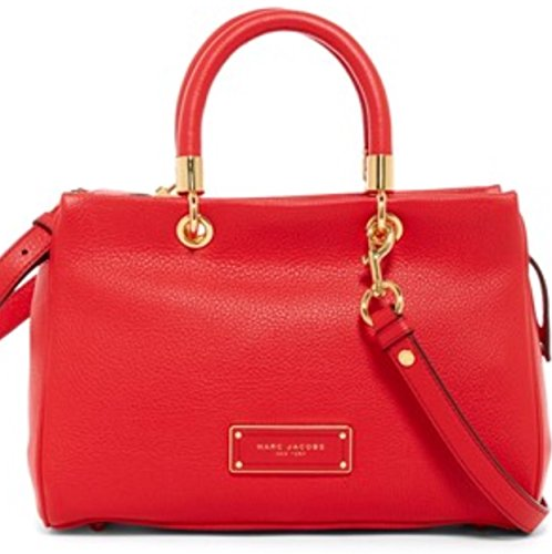 Marc Jacobs Small Too Hot to Handle Leather Tote Bag- Tulip Red