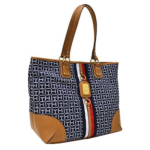 Tommy Hilfiger Logo large Travel Tote Bag Handbag Purse – Blue/White