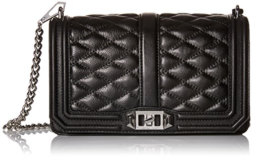 Rebecca Minkoff Love Crossbody Silver Hardware, Black